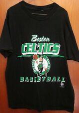 BOSTON CELTICS small NBA black T shirt basketball T shirt classic logo