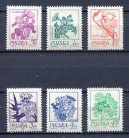 35863) Poland 1974 MNH Flowers 6v. Scott #2017/22