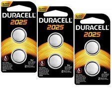 Duracell CR2025 ECR2025 CR 2025 DL2025 3 Volt Battery  x 6