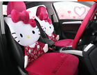 1 Sets New Hello Kitty Bow Cute Universal Car Seat Cover Cushion Plush Red 06