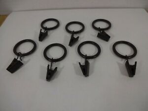 Set of 7 Metal Hanging Clamps for Displaying Quilts on Wall-Mounted Rod EUC