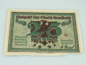 Notgeld der Stadt Arnstadt 25 pfennig