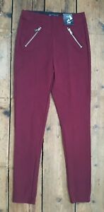 M&S COLLECTION Women's Plum High Rise Skinny Ankle Grazer Trousers. Size 6.