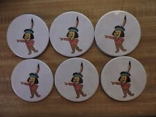"10 Coasters 3.5"" wide Santa Fe Railroad Chico Made in Usa"