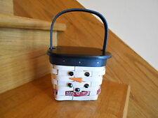 Longaberger Mr. Flurry Basket Set 2015 Snowman w/ lid nice gift *free shipping!*
