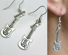2 x SG style electric guitar pewter earrings charms