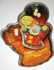 1981 Wilton Circus Clown w/ Balloons Birthday Cake Pan,Tin,Mold -Discontinued