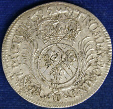 Francia France Luigi XIV° 1/2 Ecu 1695 D Lyon Argento Silver #4437