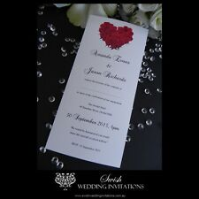 Heart of Red Roses Anniversary Wedding Engagement Invitations - DL Invite Sample