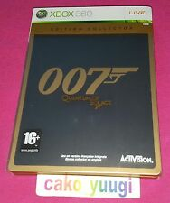 007 QUANTUM OF SOLACE EDITION COLLECTOR  XBOX 360 VERSION FRANCAISE BON ETAT
