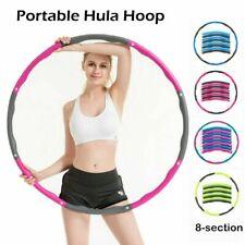 Hoola Hoops Fitness Sport Bauchtrainer Hula Hoop Reifen 8 Segmente zerlegbar