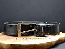 Ted Baker Mens Classic Leather Belt Black Size 36