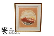 Sunset Mountain Impressionist Landscape Estes Limited Ed Copperplate? Lithograph