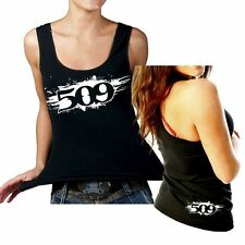 509  CLOTHING APPAREL  - PAINTED WOMENS TANK TOP   LARGE    #  509-17232
