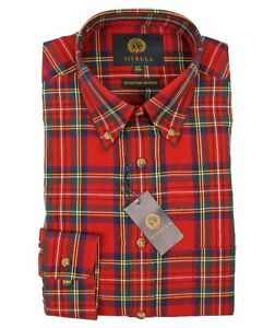 Viyella 80/20 Royal Stewart Tartan Classic Fit Shirt with Button Down Collar