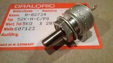 1 pcs DRALORIC potentiometer 5K ohm NOS West Germany typ 52K