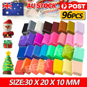 96PCS Craft Oven Bake Polymer Clay Modelling Moulding Fimo Block DIY Toy