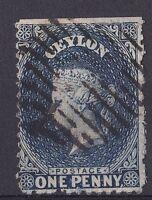 DB198) Ceylon 1862 1d Dull Blue, SG44