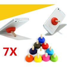 7X Sucker Holder Toilet Shape Wood Plunger For iPhone Cell Phone iPod Stand New!