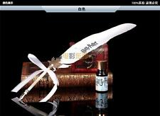 Harry Potter Hogwarts Writing Quill Feather Pen Deathly Hallows Costume White