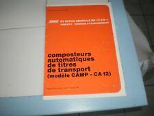 notice générale composteurs automatiques de titres de transport