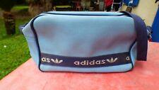 sac vintage bag Adidas besace toile  bleu  porté épaule