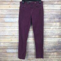 J Crew Matchstick Corduroy Low Rise Pants Womens Size 24 Slim Straight Leg