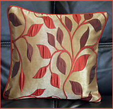 India Silk patch work Hand Made burgundy red Pillow Cover from Craft Options!