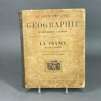 Le deuxième livre de géographie - Ancien livre scolaire - Levasseur Niox - 1898