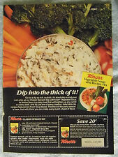 1985 Magazine Advertisement Ad Page Knorr Vegetable Soup Mix Spinach Dip Recipe