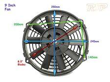 """9 """" 12V UNIVERSALE ELETTRICA SLIM LINE RAFFREDDAMENTO RADIATORE VENTOLA TRACK RACE 9 POLLICI F / O"""