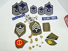 WWII & Vietnam Era Army and Air Force Patches and Buttons Mixed Lot