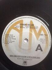 "KRIS KRISTOFFERSON & RITA COOLIDGE 7"" - I FOUGHT THE LAW / HOOLA HOOP - AMS 7352"
