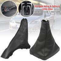 Car Gear Stick Gaiter Boot + Handbrake Cover For Opel G Zafira A 578412 738415