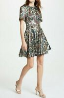 NWT Diane von Furstenberg DVF Ana Belted Silk Blend Dress, size 2, MSRP $598