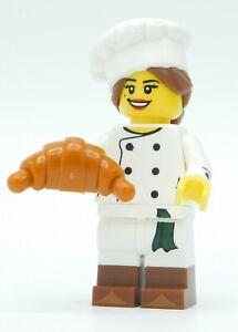 Food Accessories Lot figure female cook Lego Chef Minifig w// Custom Kitchen