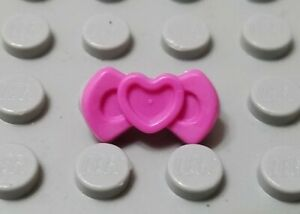 LEGO Friends City Dark Pink Minifigure Heart Hair Bow with Pin