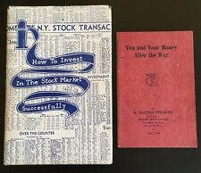 1948 How To Invest In The Stock Market Successfully 1st Ed. DJ ~ W.D. Gann Rare