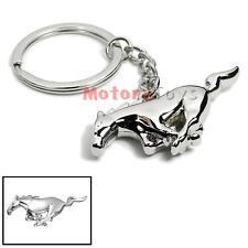 Chrome Finish Pony Horse Key Chain Fob Ring Keychain Mustang GT 500 Cobra Shelb