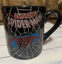 Amazing Spiderman Coffee Cup Mug 14 Oz Marvel Mask Black Red