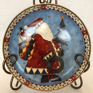 Debbie Mumm Set of 6 Decorative Xmas Santa Plates Numbered Royal Doulton Limited