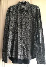 Men's Black Grey Print LAMBRETTA Long Sleeve Shirt {BNWOT} Size XL