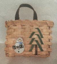 Basket Weaving Pattern Snowman Ornament Basket by Julie Kleinrath