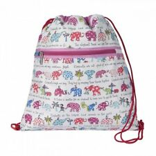 Elephants design drawstring bag / swim bag / backpack