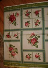 My Secret Garden Panels Red Roses COTTON FABRIC Maywood Studio Marti Michell