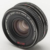 Konica Hexanon AR 40mm F1.8 1.8 1:1.8 Lens 40 mm manuell