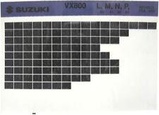 Suzuki VX800 1990 1991 1992 1993 Parts Catalog Microfiche s412a