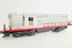 Lionel Lines Burlington 2328 GP-7, Silver Gray and Red, O Scale, 3 Rail