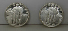 2 MAGIC COINS - HEADS & TAILS 1916 / 1917 STANDING LIBERTY QUARTER