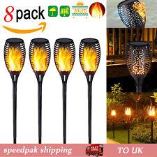 Solar Torch Light Waterproof LED Flame Flickering Dancing Garden Lantern Lamp UK